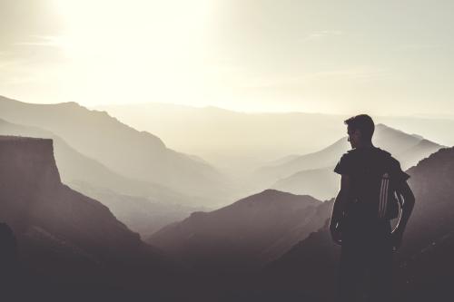 Foggy mountain hike